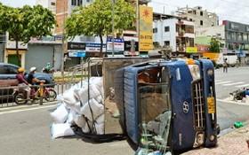 於8月9日在徑陽王街發生,導致兩人受傷和一人死亡的交通事故現場。