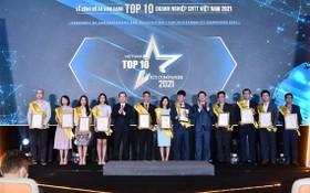 越南十大資訊技術企業表彰儀式。(圖源:雄英)