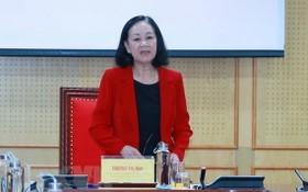 中央組織部長張氏梅。(圖源:越通社)