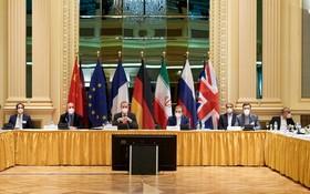 5月25日,伊核全面協議聯委會新一輪恢復履約談判政治總司長級會議在奧地利維也納舉行。圖為會議現場。(圖源:互聯網)