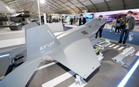 2021首爾航展(ADEX)開幕,韓國戰機KF-21首度參展。(圖源:路透社)