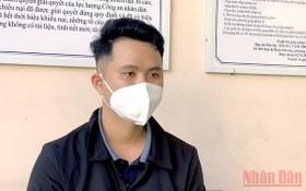 被抓獲的嫌犯阮廷潤。(圖源:人民報)
