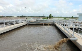 滀臻省州城縣安業工業區的廢水處理廠。(圖片來源:忠孝)