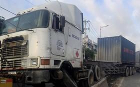 河內公路第九郡路段交通癱瘓。(圖片來源:互聯網)