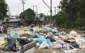 許多人將工業垃圾隨意棄置在平隆街人行道上, 以免支付收集、處理費。