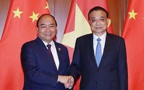 政府總理阮春福與中國總理李克強。