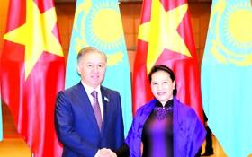 國會主席阮氏金銀與努爾蘭‧尼格馬圖林閣下舉行會談。
