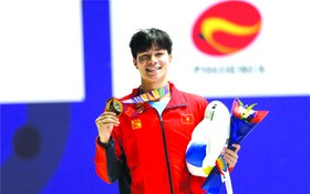 陳興源奪得游泳項目男子200米混合泳。