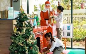 梅利亞河川海灘度假區充滿聖誕節氛圍。