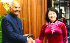 國家副主席鄧氏玉盛日前會見印度共和國總統拉姆‧納特‧科溫德。