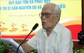 越南翹學協會主席封黎教授