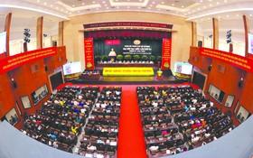 市黨部第十一次大會會場一隅。