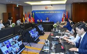 東亞高級專家抗擊新冠肺炎疫情合作會議(EAS)(圖源:互聯網)