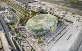 受疫情影響,新加坡當局把樟宜機場五號客運大樓的竣工日期延後兩年。