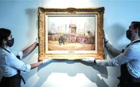 這幅描繪巴黎蒙馬特附近街道的作品在1887年創作