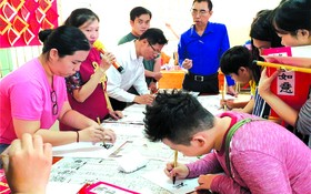 市商業華語培訓中心每年舉辦的迎春傳統活動吸引眾多學生參加。