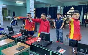 越南射擊隊進行訓練。