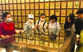 遊客參觀平陽省順安市的Fito博物館。