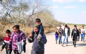 進入美國的移民。