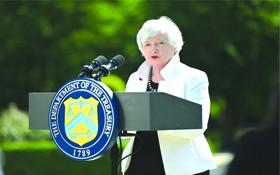 美財長耶倫六月在出席七國集團財長會議,設立全球最低企業稅成為重點議題。