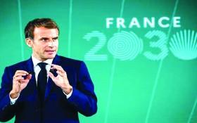 馬克龍宣佈「法國二○三○」計劃現場。