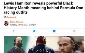 漢密爾頓合作黑人詩人並穿特製T恤