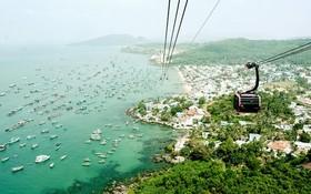 富國島的香嶼纜車是世界上最長的跨海纜車,吸引眾多遊客來觀光。
