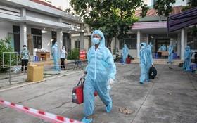 越南寶元有限責任公司勞工在集中隔離區。。
