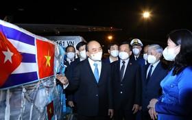 國家主席出席新冠疫苗與醫療設備移交儀式