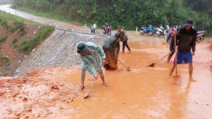 Central localities urgently overcome consequences after flood