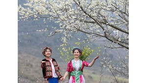 Beauty of women in Ha Giang Province's plateau of rocks