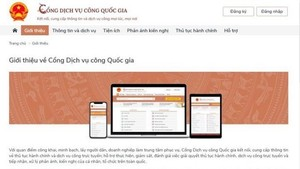 The National Public Service Portal (Photo: VNA)