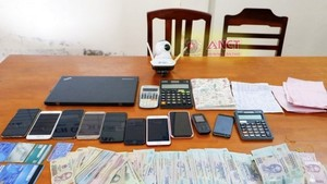 The online gambling ring is broken with allegedly transacted bets worth more than VND150 billion. (Photo: SGGP)