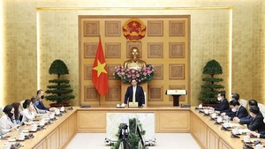 Prime Minister Pham Minh Chinh speaks at the event (Photo: VNA)