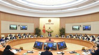 Chính phủ họp phiên thường kỳ tháng 2-2021. ẢNH: VIẾT CHUNG