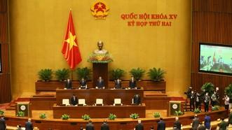 Phiên khai mạc kỳ họp thứ 2, Quốc hội khóa XV. Ảnh: VIẾT CHUNG