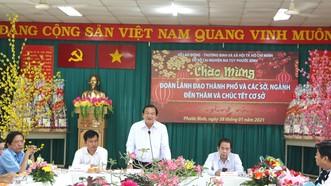 Đoàn lãnh đạo TPHCM chúc tết Cơ sở cai nghiện ma túy Phước Bình