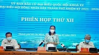 Chủ tịch HĐND TPHCM Nguyễn Thị Lệ: Có phương án bỏ phiếu phù hợp trong bối cảnh phòng chống dịch Covid-19