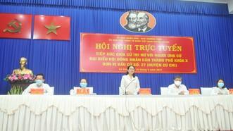 Chủ tịch HĐND TPHCM Nguyễn Thị Lệ tiếp xúc cử tri nữ và cán bộ, chiến sĩ Sư đoàn 9