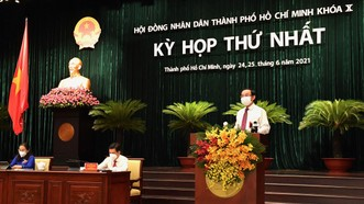 Khai mạc kỳ họp thứ nhất HĐND TPHCM khóa X: Bầu các chức danh chủ chốt HĐND, UBND TPHCM nhiệm kỳ 2021-2026
