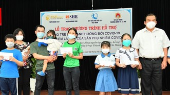 SHB hỗ trợ 1.853 trẻ em mồ côi vì Covid-19 tại TPHCM