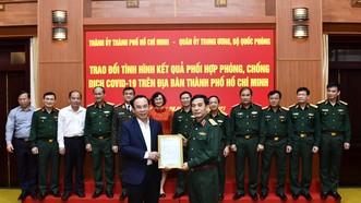 TPHCM tri ân lực lượng quân đội hỗ trợ, chi viện phòng chống dịch Covid-19