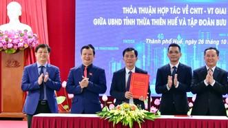 Thừa Thiên - Huế hợp tác với VNPT triển khai chuyển đổi số