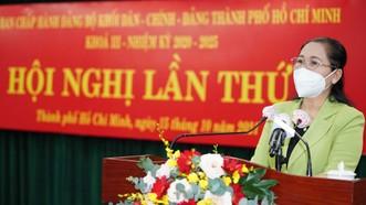 """Đảng ủy Khối Dân - Chính - Đảng TPHCM cần tăng tốc hoàn thành nhiệm vụ trong giai đoạn """"bình thường mới"""" của thành phố  """