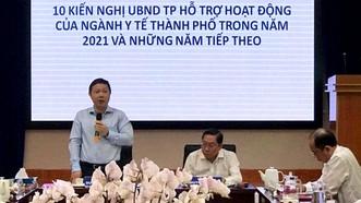 Phó Chủ tịch UBND TPHCM Dương Anh Đức phát biểu chỉ đạo tại buổi làm việc