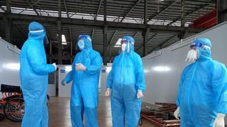 Đoàn công tác Bộ Y tế đi khảo sát Bệnh viện dã chiến thu dung và điều trị Covid-19 số 16