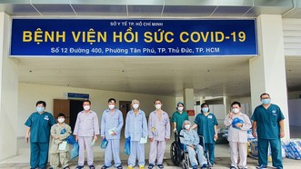 Các bệnh nhân mắc Covid-19 nặng đã khỏe mạnh và được xuất viện ngày 1-8