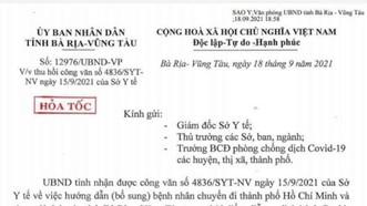 Bà Rịa – Vũng Tàu: Hỏa tốc thu hồi văn bản chuyển viện phải nộp hồ sơ cho ngành giao thông