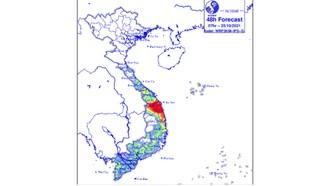 Mưa lớn ở khu vực từ Thừa Thiên Huế đến Khánh Hòa