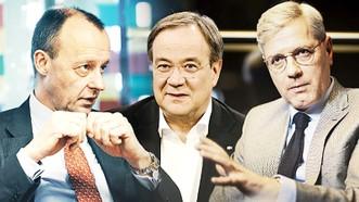 Các ông: Friedrich Merz, Armin Laschet, Norbert Röttgen (từ trái sang)
